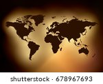 dark background with brown map... | Shutterstock .eps vector #678967693