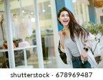 summer sunny lifestyle fashion... | Shutterstock . vector #678969487