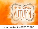 Here Comes Autumn Typography...
