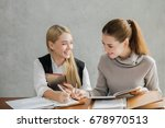 young attractive students... | Shutterstock . vector #678970513