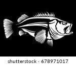 fishing logo.rock fish. bass...   Shutterstock .eps vector #678971017