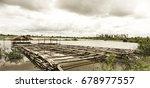 bamboo rafting | Shutterstock . vector #678977557