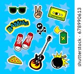 fashion patch badges with... | Shutterstock . vector #678990613