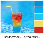 Small photo of Colour cocktail. Colour palette with complimentary colour swatches