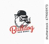 bulldog logo template design....