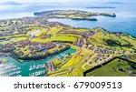 aerial view on residential...   Shutterstock . vector #679009513