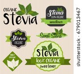 stevia food label set | Shutterstock .eps vector #679013467