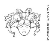 decorated venetian carnival ... | Shutterstock .eps vector #679017973