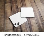 blank square beer coasters and... | Shutterstock . vector #679020313