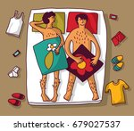 gay homosexual naked man couple ...   Shutterstock .eps vector #679027537