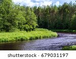 gauja river | Shutterstock . vector #679031197