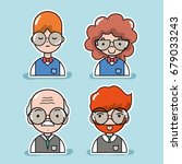 set student and teacher to... | Shutterstock .eps vector #679033243