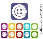 sewing button icons set vector... | Shutterstock .eps vector #679041193