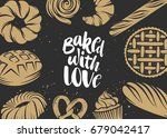 set of vector bakery elements... | Shutterstock .eps vector #679042417