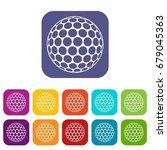 golf ball icons set vector...   Shutterstock .eps vector #679045363