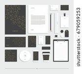 corporate identity  stationery... | Shutterstock .eps vector #679059253