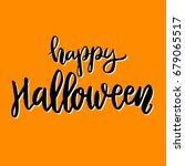 happy halloween. hand drawn... | Shutterstock .eps vector #679065517