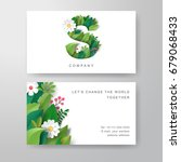 business cards with letter s in ... | Shutterstock .eps vector #679068433