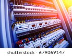 voltage switchboard with... | Shutterstock . vector #679069147