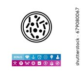 petri dish with bacteria icon | Shutterstock .eps vector #679080067