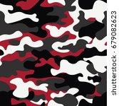 seamless camouflage pattern... | Shutterstock .eps vector #679082623
