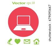 laptop icon in trendy flat...