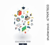 education integrated 3d web... | Shutterstock .eps vector #679097833