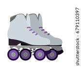 isolated pair of roller skates  ... | Shutterstock .eps vector #679110397