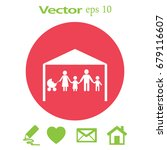flat icon family. the husband... | Shutterstock .eps vector #679116607