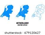 set vector maps   vector map of ... | Shutterstock .eps vector #679120627
