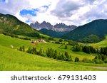 panorama val di funes italy | Shutterstock . vector #679131403
