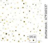 gold stars. confetti... | Shutterstock .eps vector #679160137
