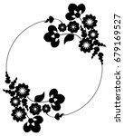 black and white silhouette... | Shutterstock .eps vector #679169527