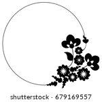 black and white silhouette... | Shutterstock .eps vector #679169557