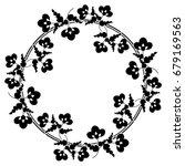 black and white silhouette... | Shutterstock .eps vector #679169563