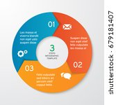 circle arrows for infographics. ... | Shutterstock .eps vector #679181407