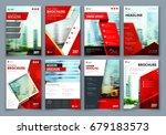 brochure design. red corporate... | Shutterstock .eps vector #679183573