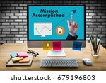 mission accomplished business... | Shutterstock . vector #679196803
