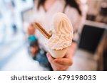 selective focus of a woman girl ...   Shutterstock . vector #679198033