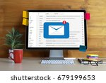 mail communication connection...   Shutterstock . vector #679199653