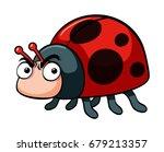 angry ladybug on white... | Shutterstock .eps vector #679213357