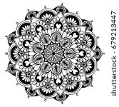 mandalas for coloring book.... | Shutterstock .eps vector #679213447