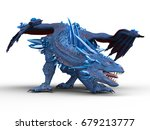 3d cg rendering of a dragon | Shutterstock . vector #679213777