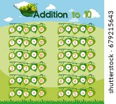 chart design for addition to... | Shutterstock .eps vector #679215643