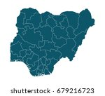 map of nigeria   high detailed... | Shutterstock .eps vector #679216723