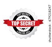 top secret round silver badge... | Shutterstock .eps vector #679218247