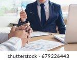 job application interview.... | Shutterstock . vector #679226443