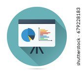 pie and bar graph on... | Shutterstock .eps vector #679228183