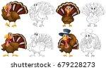 doodle character for wild... | Shutterstock .eps vector #679228273