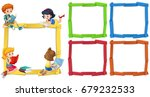 frame template with happpy... | Shutterstock .eps vector #679232533
